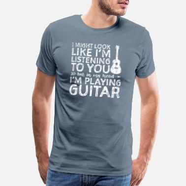 I Love Rock I Might Look Like I'm Listening To You But In My H - Men's Premium T-Shirt