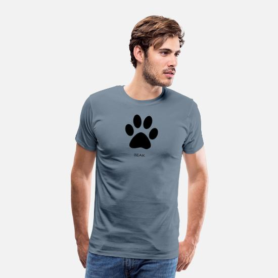 Paw T-Shirts - Wrong Paw Beak - Men's Premium T-Shirt steel blue