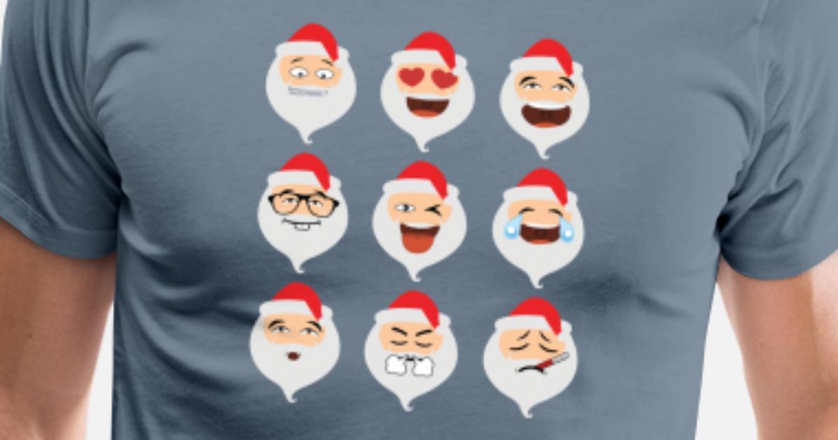 6d37d776 Men's Premium T-ShirtSanta Claus Asian Emojis Christmas Funny TShirt