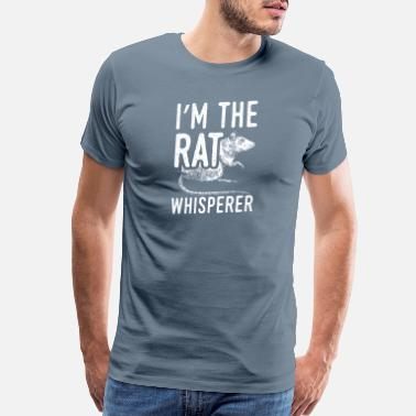Mouse Awesome Mice Rats Design Quote Rat Whisperer - Men's Premium T-Shirt