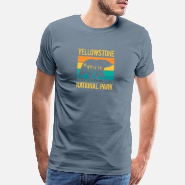 Mountaineering Vintage Yellowstone National Park Bear - Men's Premium T-Shirt