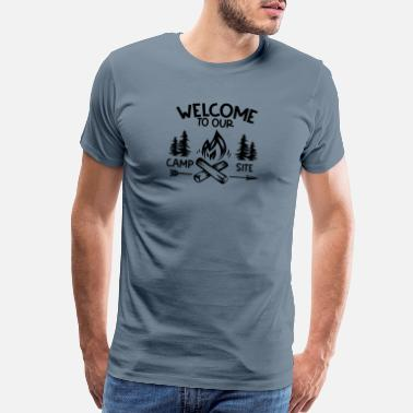 Rv Welcome to our Campsite - Men's Premium T-Shirt