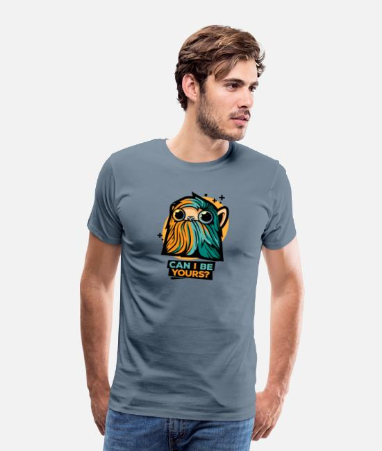 Art T-Shirts - Cool Critter - Men's Premium T-Shirt steel blue