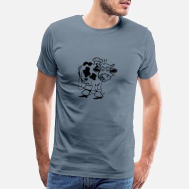 e89767a4 Cow Funny Aprons Cook cook funny cow cow - Men's Premium T-Shirt