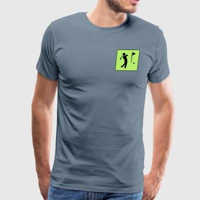 Golf Player (vector graphic) - Men's Premium T-Shirt