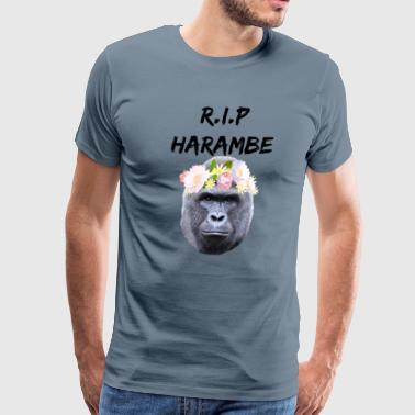 R.I.P Harambe Snapchat Flower Filter - Men's Premium T-Shirt