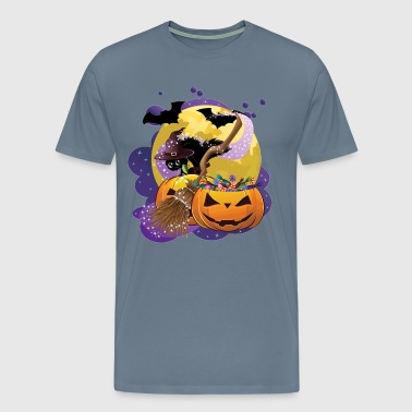 Halloween black cat - Men's Premium T-Shirt