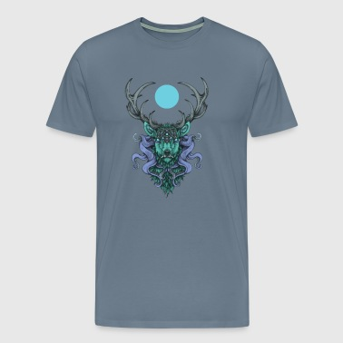 Cthulhu's stag - blue moon - Men's Premium T-Shirt