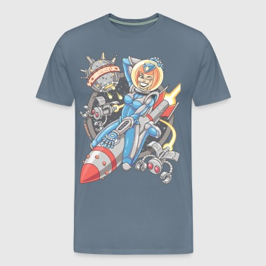 Yobeeno Cosmic Girl Shirt - Men's Premium T-Shirt