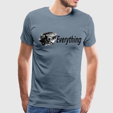 G8 LS Everything WHITE Premium Longsleeve T - Men's Premium T-Shirt