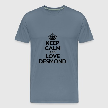 Keep calm and love desmond - Men's Premium T-Shirt