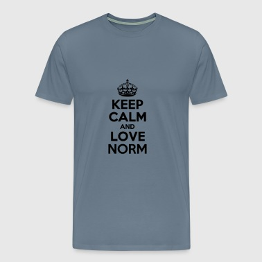 Keep calm and love norm - Men's Premium T-Shirt