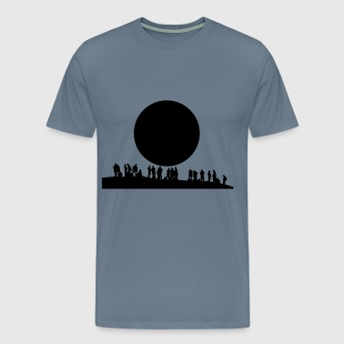 people and the moon black - Men's Premium T-Shirt