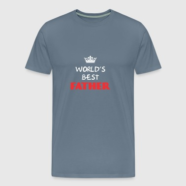 Father - World's best Father - Men's Premium T-Shirt