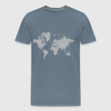 Prismatic Hexagonal World Map 5 No Background - Men's Premium T-Shirt