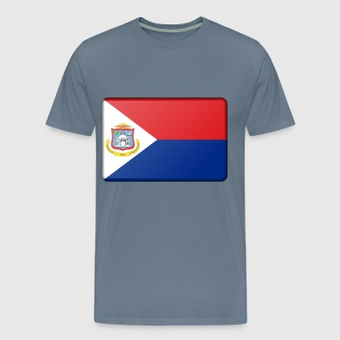 Flag of Sint Maarten (bevelled) - Men's Premium T-Shirt