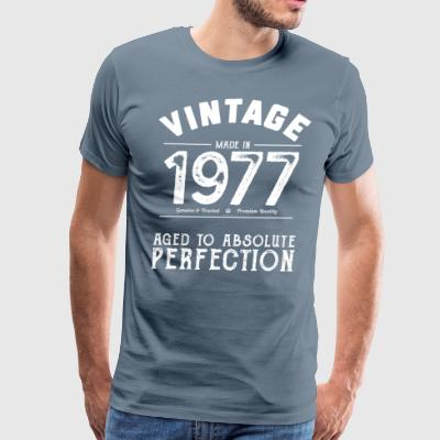 Funny 40th Birthday Present Vintage Made in 1977 - Men's Premium T-Shirt