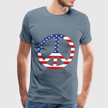 American Flag Peace Sign - Men's Premium T-Shirt