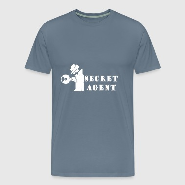 secret - secret agent - Men's Premium T-Shirt
