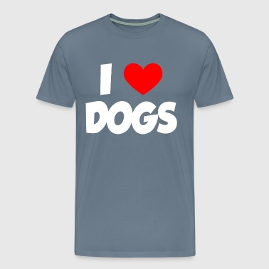 I Heart Love Dogs - Men's Premium T-Shirt