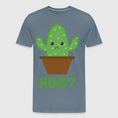 Hug? (Sad Prickly Cactus) - Men's Premium T-Shirt