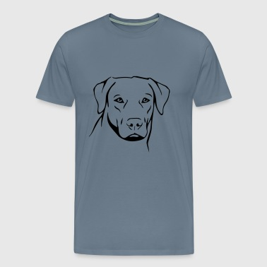Dog Labrador - Men's Premium T-Shirt