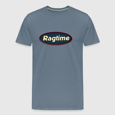 cool ragtime oval - Men's Premium T-Shirt