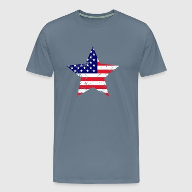 US Flag Star Shape - Men's Premium T-Shirt