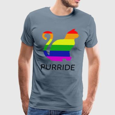 Funny Gay Pride Cat - Men's Premium T-Shirt
