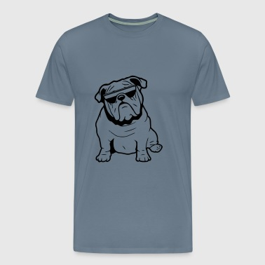 Dog English bulldog sunglasses - Men's Premium T-Shirt