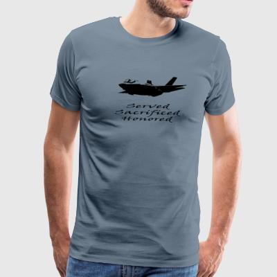 Airforce Served Sacrificed Honored - Men's Premium T-Shirt