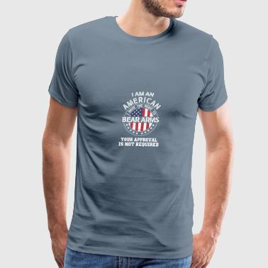 I am an american I have the right to bear arms - Men's Premium T-Shirt