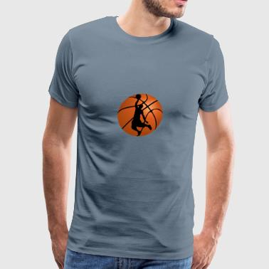 Basketball Player Silhouette - Men's Premium T-Shirt