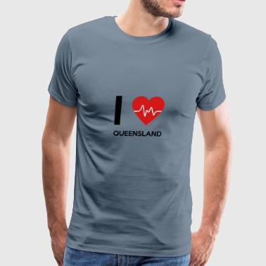 I Love Queensland - Men's Premium T-Shirt