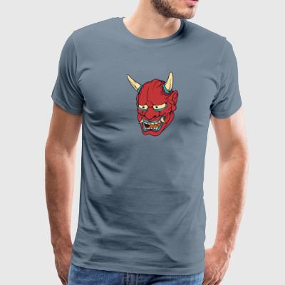 red_japan_demon - Men's Premium T-Shirt