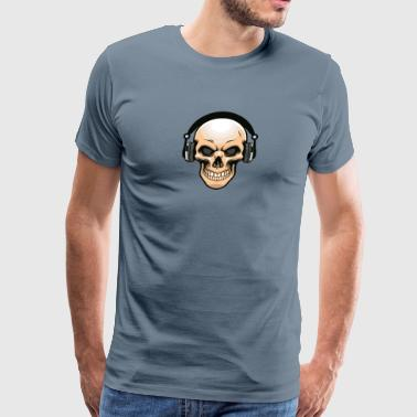 skull-headphones-music-disko-DJ - Men's Premium T-Shirt