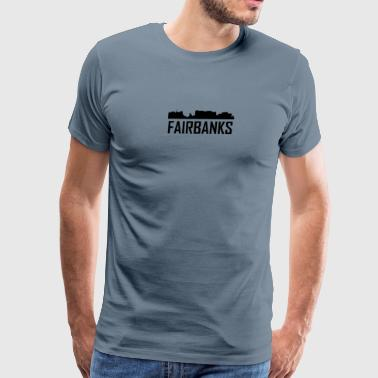 Fairbanks Alaska City Skyline - Men's Premium T-Shirt