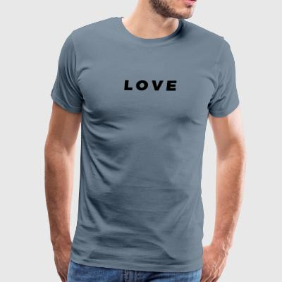 LOVE - Alt. Block Letters Design (Black Letters) - Men's Premium T-Shirt