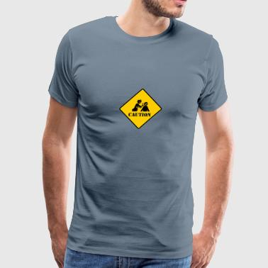 Caution Zombie - Men's Premium T-Shirt