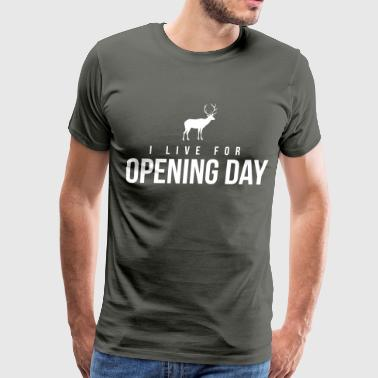 I live for opening day - Men's Premium T-Shirt