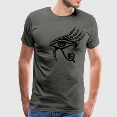 Horus Eye, Feathers, Ra, Ancient Egypt, Symbols - Men's Premium T-Shirt