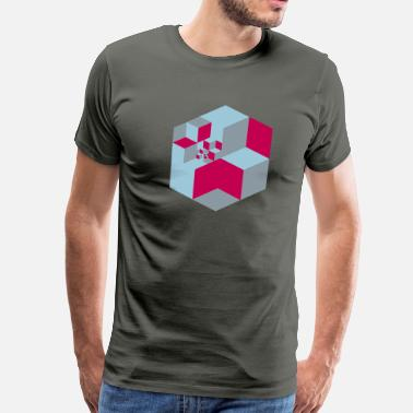 Escher Abstract Geometry 05 - Men's Premium T-Shirt
