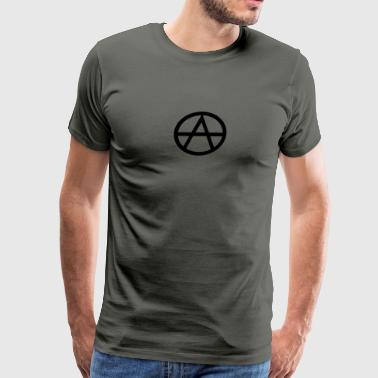 Anarchism Symbol - Men's Premium T-Shirt