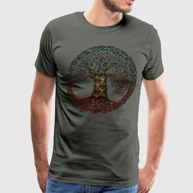 Tree Of Life TREE OF LIFE-blood moon - Men's Premium T-Shirt