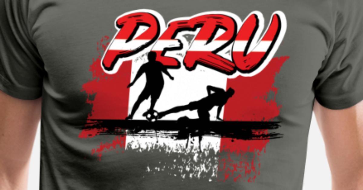 0cd1fbd8470 Peruvian Soccer Futbol Shirt for Peru Fans Men s Premium T-Shirt ...