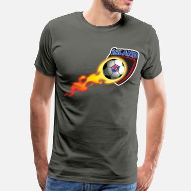 Iceland Football Iceland Soccer for Fans of Iceland Football - Men's Premium T-Shirt