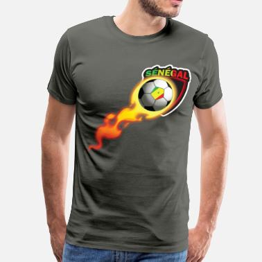 Expatriation Soccer Tshirt for Fans of Senegal Soccer Team - Men's Premium T-Shirt