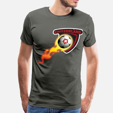 Switzerland Football TShirt for Ultimate Swiss Fan - Men's Premium T-Shirt