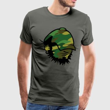 hank D Head - Camo - Men's Premium T-Shirt