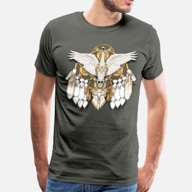 Bead Swan Dreamcatcher Mandala - Men's Premium T-Shirt